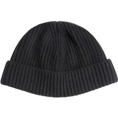 Lanvin Men Ribbed Wool Knit Beanie Hat ($215) ❤ liked on Polyvore featuring men's fashion, men's accessories, men's hats, black, mens beanie hats, mens wool hats, mens beanie and mens wool beanie