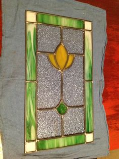 Window pane made in stained glass class