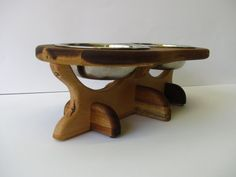 ACACIA dog bowl stand elevated dog bowl holder by Cc2kdesign