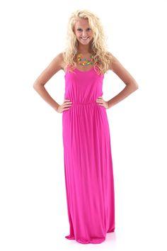 Life's A Beach Maxi Dress-Strawberry - Dresses