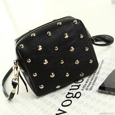 Bolish Rivet Women Bags Fashion metal bag Punk Mini Crossbody Bag/Women Messenger Bag Big Enough for IPhone 6