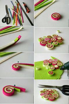 Manualidades Paso A Paso - Diy Crafts Clay Crafts, Felt Crafts, Fabric Crafts, Diy And Crafts, Crafts For Kids, Arts And Crafts, Paper Crafts, Paper Quilling Designs, Quilling Patterns