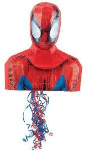 "Spider-Man 17"" Pull-String Pinata - Official Superhero Costumes . $25.75. This superhero product includes the piñata. Does not include fillers or favors."
