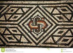 detail from roman mosaic, Bignor roman palace