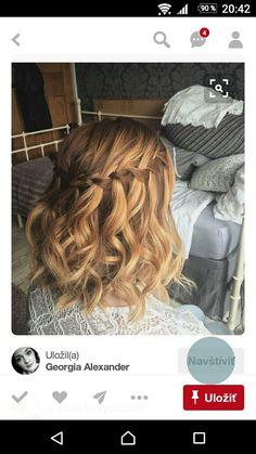 Braids For Short Hair, Short Curly Hair, Short Hair Styles, Bridesmaid Hair, Prom Hair, Curly Waterfall Braid, Curled Hairstyles, Wedding Hairstyles, Kids Wigs