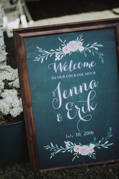 Jenna + Erik: Northern Wisconsin Wedding with a Hint of Polka | Signage