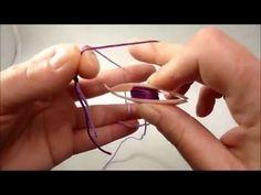 Frivolité leçon 2 : Réaliser le double noeud - YouTube