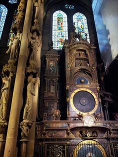 The clock of the cathedral in Strasbourg