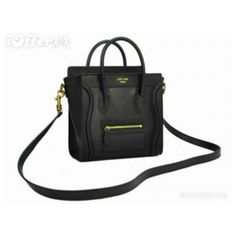 celine-nano-luggage-shopper-tote-bag-black-0559.jpg (JPEG Image, 580 ×... ❤ liked on Polyvore