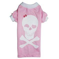 Camiseta de Cachorro Polo Piquet Caveira Rosa Dog & Home - MeuAmigoPet.com.br #petshop #cachorro #cão #meuamigopet