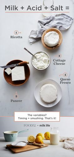 Learn how to make DIY cheese with only three ingredients.