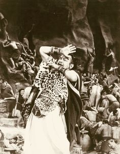 """Edward G Robinson as Dathan  in Cecil B DeMille's """"The Ten Commandments"""" (Paramount, 1956)."""