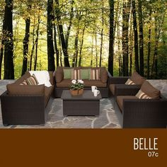 TKC Belle 7 Piece Outdoor Wicker Patio Furniture Set -- This is an Amazon Associate's Pin. View the item in details on Amazon website by clicking the VISIT button.