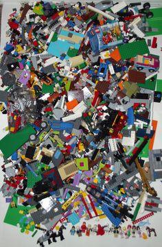 14 lb Pounds of LEGOS Huge Lot Minifigures Bricks Friends Vehicles Specialty pcs #LEGO