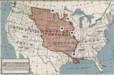 Lewis & Clark's Expedition to the Complex West-Mapping History~~~Examine the documents related to the Louisiana Purchase and the Lewis and Clark Expedition. Determine where different groups were involved and use the hints to place the documents on the X's on the map.