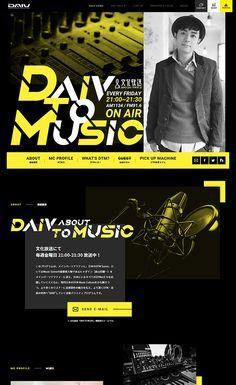 DAIV TO MUSIC » Web Design Clip [L] 【ランディングページWebデザインクリップ】 Site Design, App Design, Layout Design, Logo Design, Advertisement Examples, Pag Web, Music Web, Creative Web Design, Portfolio Web Design