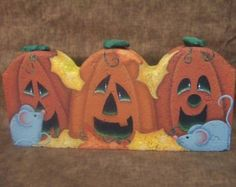 Painted Pavers Squeaks Decorative Painting Pattern Packet by OilCreekOriginals… Painted Bricks Crafts, Brick Crafts, Painted Pavers, Cement Crafts, Stone Crafts, Painted Rocks, Brick Projects, Wooden Projects, Wood Crafts