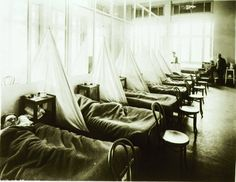 U. S. Army Camp Hospital No. 45, Aix-les-Bains, France. Influenza ward No. 1.