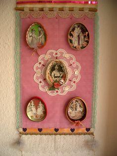Jane Austen Wall Hanging Shrine by filzgood