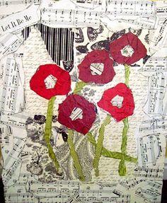 Mod Podge floral collage