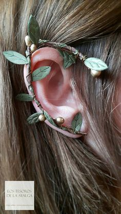 Elven forest ear cuff