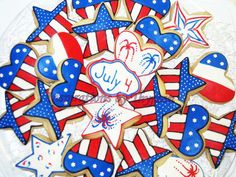 4th of July Cookies by InspirationsbyThyjua on Etsy, $30.00
