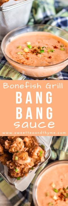 Bang Bang Sauce is sweet spicy creamy and a perfect sauce for seafood meat and vegetables Its such a delicious and easy sauce to drizzle and dip for all kinds of dishes T. Copycat Recipes, Sauce Recipes, Fish Recipes, Seafood Recipes, Asian Recipes, Appetizer Recipes, New Recipes, Dinner Recipes, Cooking Recipes