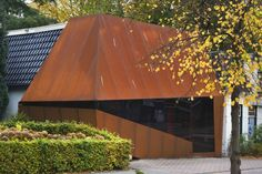 Emmen, Netherlands corten steel screen Orangerock Möhn + Bouman