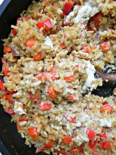 Roasted Red Pepper Risotto with Cashew Cream - Ceara's Kitchen