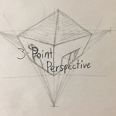 """In my blog post """"Staying in Perspective,"""" I talk about how to draw in 3-point using this video. Use three points, the third either below or above the horizontal two, and construct three sides of say, a house. """"Square mapping"""" is still relevant here because it helps build the form. Perspective Drawing Lessons, Perspective Sketch, How To Draw Perspective, Architecture Drawing Sketchbooks, Architecture Concept Drawings, Three Point Perspective, Building Drawing, Art Basics, Art Drawings Sketches Simple"""