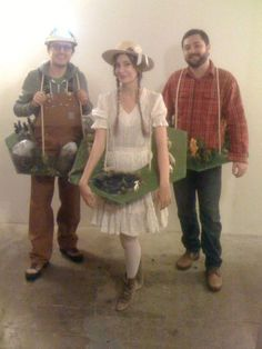 settlers of catan costumes: ore, wood, sheep