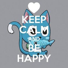 Eat More Fish; keep calm and be Happy