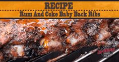 Ribs, rum and coke: there's not much to say about this baby back ribs recipe, other than that it's even more delicious than it sounds!
