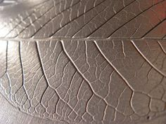 """""""Veined Leaf"""" ArmourCast with metal coating."""