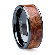 Wood Inlaid,Flat  Polished Black Tungsten men rings Price: $89 Tungsten ring, bracelet, and other tungsten product can be made with platinum, gold and any other precious metal. Our tungsten carbide allows these rings and bracelets to be both visually stunning, and durable enough for every-day use. You no longer required to remove and replace Your jewelry in order to protect its finish. This unique jewelry You satisfaction, and comfort. YOURS DREAMS COME TRUE with Our products.