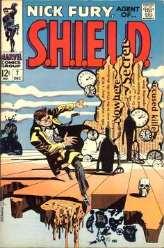 Nick Fury, Agent of SHIELD #7 by Jim Steranko. Published by Marvel Comics, December 1968.