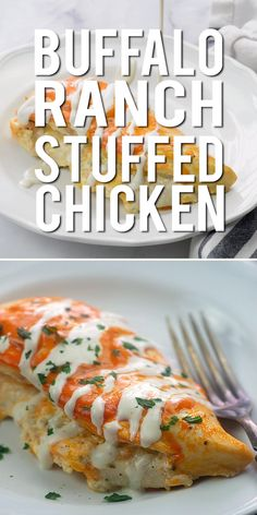 Chicken stuffed with cheese and ranch and coated in spicy wing sauce! It's low carb, keto friendly, and a favorite in my house! Chicken stuffed with cheese and ranch and coated in spicy wing sauce! It's low carb, keto friendly, and a favorite in my house! Healthy Dinner Recipes, Low Carb Recipes, Diet Recipes, Dessert Recipes, Simple Recipes, Healthy Chicken Bake Recipes, Health Food Recipes, Best Food Recipes, Healthy Supper Ideas
