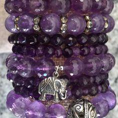 Amethyst Bracelet Stack #amethyst #purple #purplehaze To purchase: DM, email: shinebrightjewelrydesigns.com or visit our Etsy store:https://www.etsy.com/shop/ShineBrightDesign