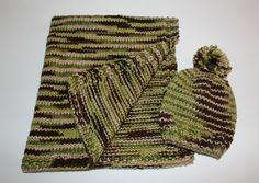 Preemie Newborn Boy Knit Hat & Blanket Set  Camo Newborn Handknit Set  Infant Boy Shower Gift Photo Prop