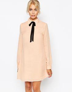 Изображение 1 из Платье-рубашка с завязкой у воротника Fashion Union