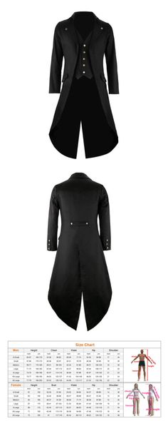 Victorian and Edwardian 125475: Mens Steampunk Vintage Tailcoat Jacket Velvet Gothic Victorian Frock Coat Black -> BUY IT NOW ONLY: $45.59 on eBay!