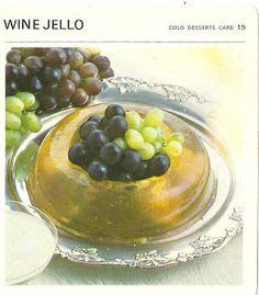 Wine Jello (Marguerite Patten's Recipe Cards, 1967)