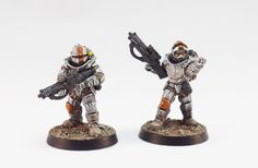 Miniatures of the North: Fireteam leaders - Orbital Fusiliers, Anvil Industry