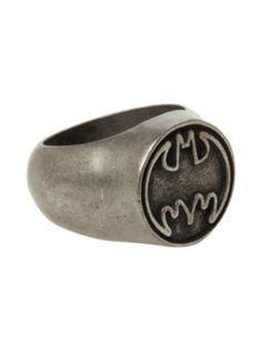 DC Comics Batman Logo Ring