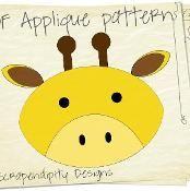 Giraffe Fabric Applique Quilt Shirt - via @Craftsy
