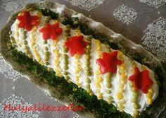 hülyalı lezzetler: Rulo Salata Salad Design, Food Design, Turkish Recipes, Ethnic Recipes, Salad Cake, Iranian Food, Good Food, Yummy Food, Edible Food
