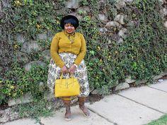 Yellow shirt and bag to compliment your african print skirt Next Skirts, African Print Skirt, South African Fashion, Yellow Shirts, Skirt Outfits, Compliments, Personal Style, Autumn Fashion, Autumn Style