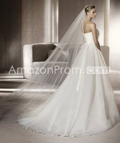 Glorious A-Line Strapless Flower Embellishing  Organza  Wedding Dress Wedding Dresses 2014 Spring Trends