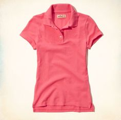 Pink Hollister Women's Polo