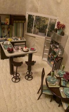 OOAK Barbie Kitchen Diorama